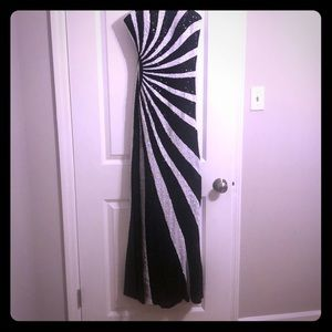 Sequined black and white dress